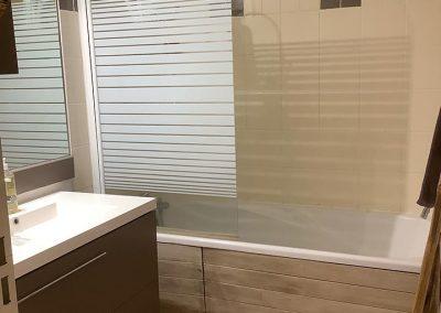 La salle de bain. -Projet d'architecture intérieure et décoration d'une maison au style exotique à Saint-Gilles les Bains - 97434