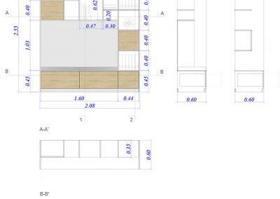 Design d'un meuble sur mesure - Agence Tohana - Ile de La Réunion 974