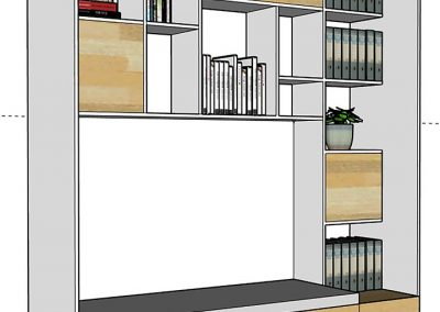 Design d'un meuble sur mesure - Agence Tohana - Ile de La Réunion