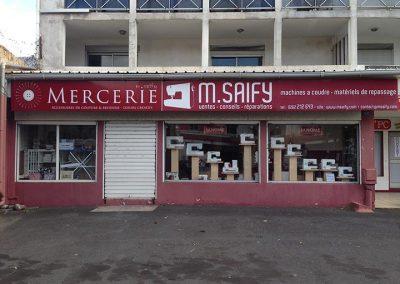 Devanture du magasin M. Saify - ile de La Réunion 974