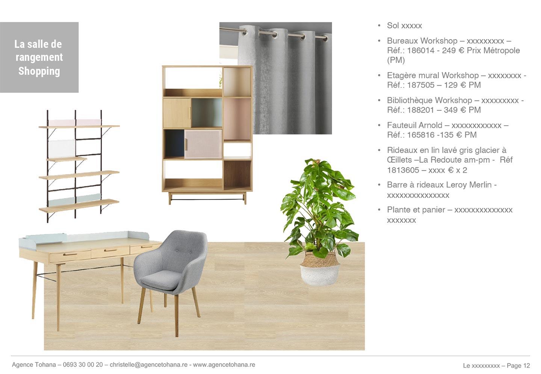 La planche de shopping Projet de rénovation d'un appartement à Saint-Denis - Dossier d'architecte d'intérieur et décorateur