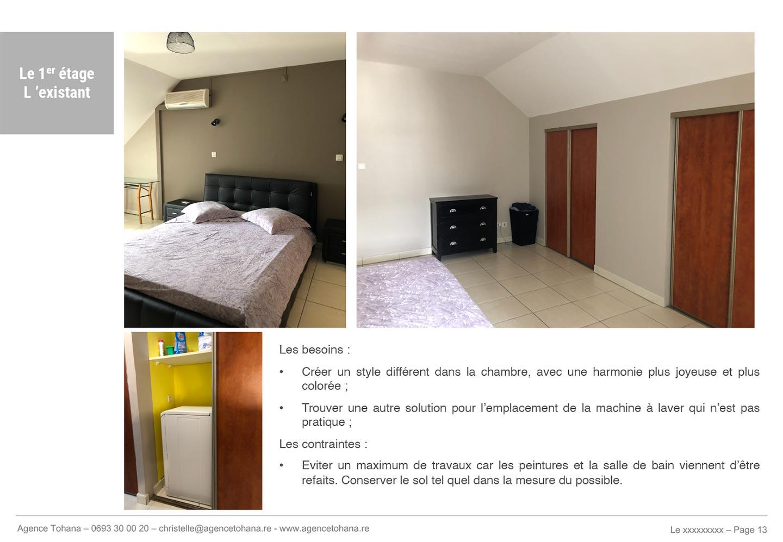 La chambre avant -Projet de rénovation d'un appartement à Saint-Denis - Dossier d'architecte d'intérieur et décorateur