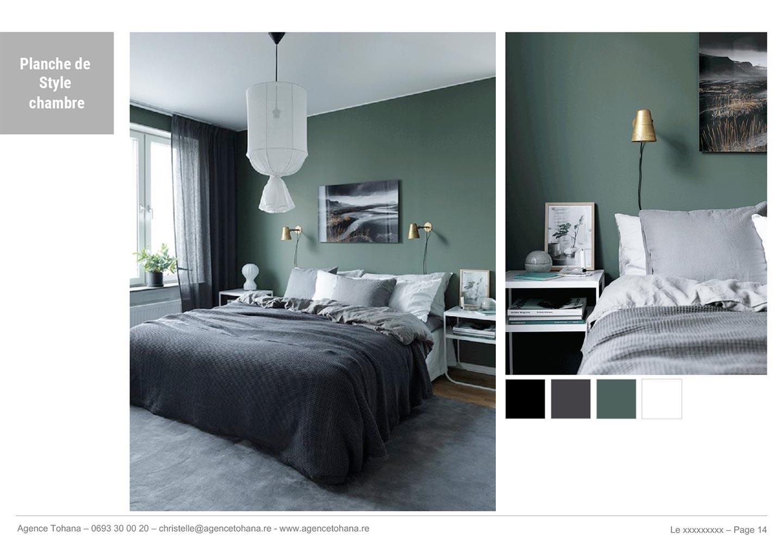 La planche de style de la chambre -Projet de rénovation d'un appartement à Saint-Denis - Dossier d'architecte d'intérieur et décorateur