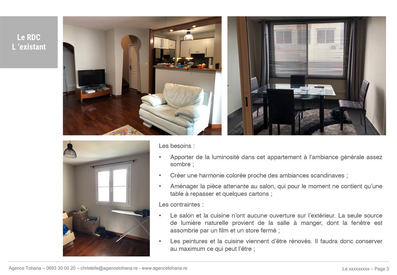 Le salon avant -Projet de rénovation d'un appartement à Saint-Denis - Dossier d'architecte d'intérieur et décorateur