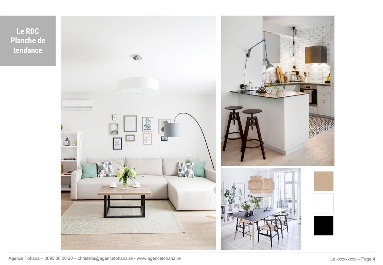 La planche de tendance -Projet de rénovation d'un appartement à Saint-Denis - Dossier d'architecte d'intérieur et décorateur