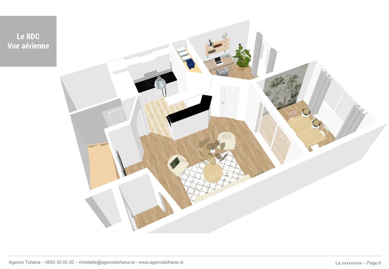 La vue aérienne -Projet de rénovation d'un appartement à Saint-Denis - Dossier d'architecte d'intérieur et décorateur