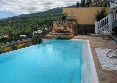La piscine avant - Projet de Home Staging d'une maison à vendre - Ile de La Réunion - 974