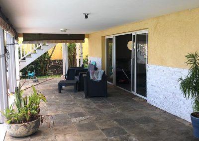 La terrasse avant - Projet de Home Staging d'une maison à vendre - Ile de La Réunion - 974